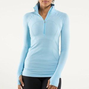 Lululemon Run Swiftly Tech 1/2 Zip Blue Pullover 6